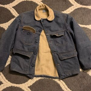 Vintage denim Sherpa lined jacket
